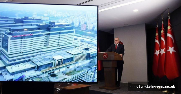 Turkish president opens giant city hospital in Istanbul