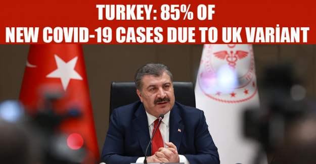 Turkey: 85% of new COVID-19 cases due to UK variant