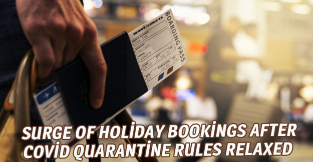 Surge of holiday bookings after Covid quarantine rules relaxed