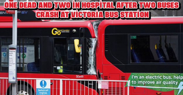 One dead and two in hospital after two buses crash at Victoria bus station
