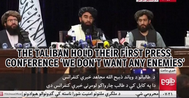 The Taliban hold their first press conference 'We don't want any enemies'