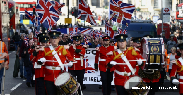 Protest held in London against Northern Ireland Protocol