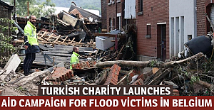 Turkish charity launches aid campaign for flood victims in Belgium